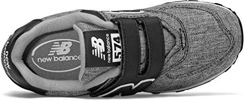 New Balance Unisex-Kinder 574v1 Sneaker Black/White 2
