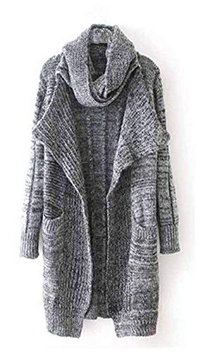 A Cappotto Vintage Donna Fashion Addensare Giacca Maglia Baggy Manica Lunga Eleganti Invernali Caldo Lunga Maglia Cardigan Giovane Giacca Maglie Casual Dunkelgrau Autunno A 0qwHdwv