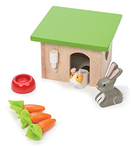 Le Toy Van Bunny & Guinea Pet Set Premium Wooden Toys for Kids Ages 3 Years & Up -