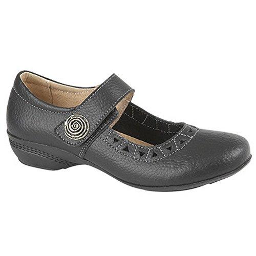 Boulevard Womens / Ladies Touch Chaussures De Barre De Fixation Noir