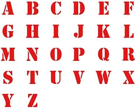 ステッカー 防水 〔選べる7色〕 アルファベット 英語 英字 26文字 タイプB 5cm 赤 屋外可