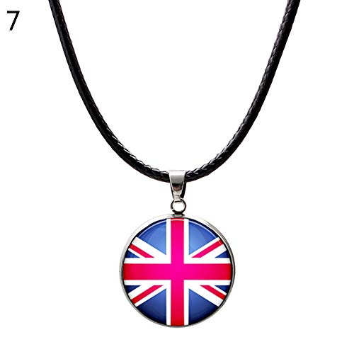 - Maserfaliw Necklaces 2018 World Cup National Flag Necklace Pendant Football Sports Men Women Jewelry - United Kingdom