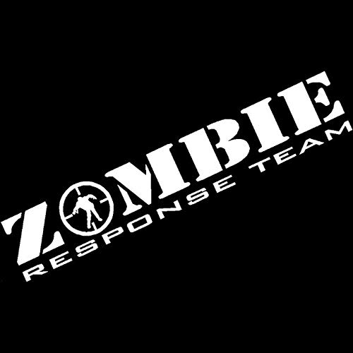 Hitada - 16CMx3CM Zombie Response Team Decal Zombie Apocalypse Vehicle Car Sticker Vinyl Car Decals Car Stylings Black/Sliver (Best Vehicle For A Zombie Apocalypse)