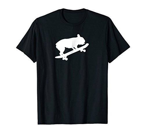 Funny French Bulldog On Skateboard Shirt Boys Men Skate Top