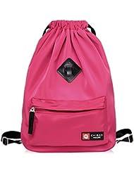 Kangkang Easy draw string bag travel backpack waterproof nylon female portable backpack pocket beam sundry receive...