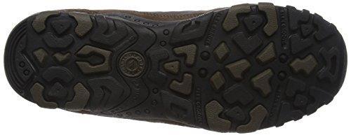 Hi-Tec Penrith Mid Waterproof - Zapatos de High Rise Senderismo Hombre Marrón (Chocolate/taupe/orange)