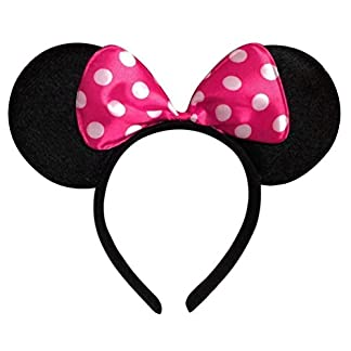 Partysanthe Bow Head Band Pink Minnie Mouse Ears Headband Hairband Costume Accessory (Multicolour) 41HLHsoetZL