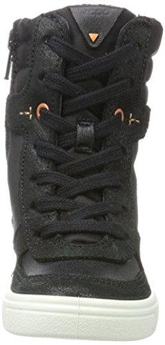 Ecco Mädchen Ginnie Hohe Sneaker Schwarz (Black/Black)