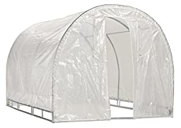 Greenhouse-Weatherguard Walk In Arched Top Garden Hot House Fully Enclosed - Screend Windows for Ventilation, Zippered Door (6\'W x 12\'L x 6\'6\