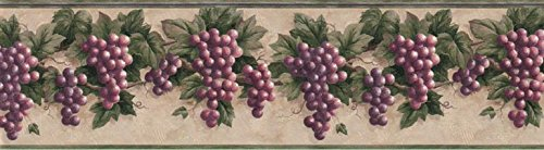 Border Grape Wallpaper (Grape Fruits Wallpaper Border B828VC)