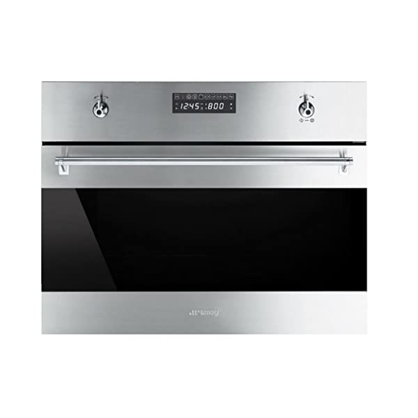 Smeg SU45VCX1 Classic Built-in Steam Combination Oven with 10 Cooking Modes, Stainless Steel 1