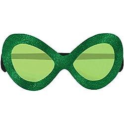 "Amscan Girls St. Patrick's Day Diva Glitter Plastic Eye Glasses (1 Piece), Green, 5"" x 5"""