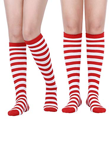 (Satinior Women Knee High Socks Soft Boot Socks Cosplay Socks for Party, Halloween, School, One Size (Multicolor 9,2)
