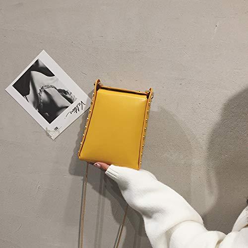 chaîne Version coréenne Petit épaule Sauvage de Messenger Mini feu Sac Grand marée Super Fille jaune Été WSLMHH Femme Sac la wpqCFRZR