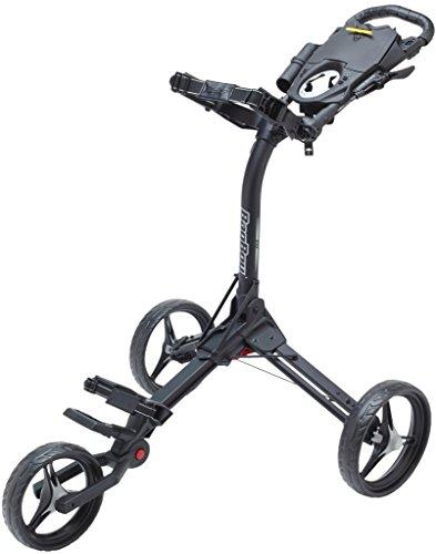 Bag Boy Compact 3 Push Cart, Matte Black/Silver Bag Boy Push Cart