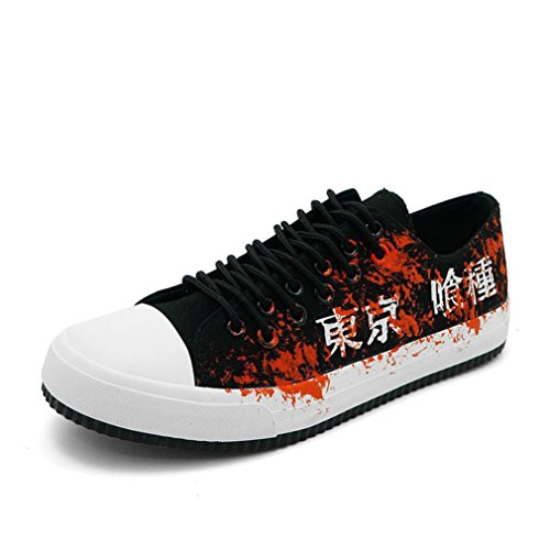 Bromeo Tokyo Ghoul Unisexe Toile Low-Top Sneaker Baskets Mode Chaussures