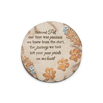 Pavilion Gift Company 19059 Light Your Way Memorial Garden Stone, 10-Inch, Beloved Pet : Garden & Outdoor