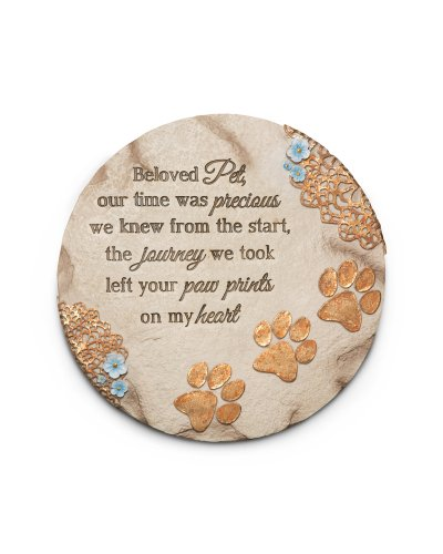 Pavilion Gift Company 19059 Light Your Way Memorial Garden Stone, 10-Inch, Beloved Pet