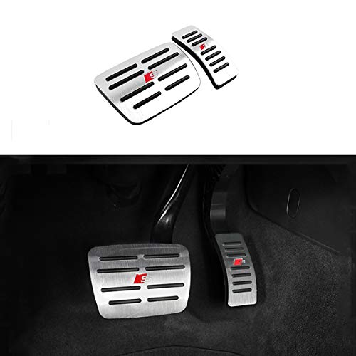 Moonlinks Compatible with Audi A4 A5 A6 A7 A8 Q5 /Porsche Macan Gas Brake Pedal Anti-Slip Aluminium Alloy Gas and Brake Pedal Covers