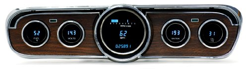 Dakota Digital VFD3-65M-W-Z Compatible with 1965-66 Ford Mustang Dash Gauge Cluster with Woodgrain Bezel