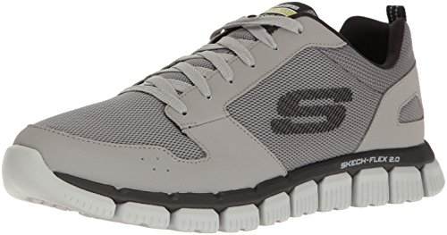 Skechers Sport Mænds Flex 2,0 Oxford Grå / Sort