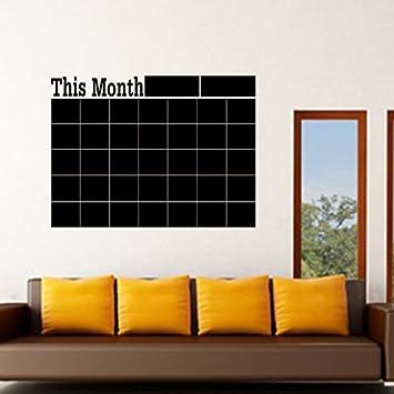 Planificador Mensual calendario adhesivo de pared, diseño de ...