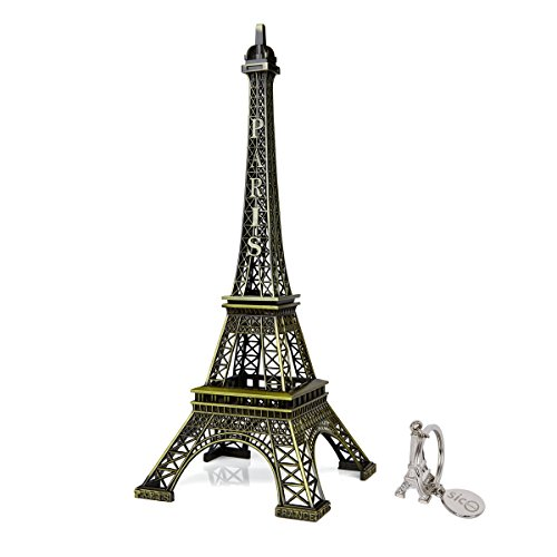 SiCoHome The Eiffel Tower 12inch Bronze Tall Eiffel Tower Paris France Vintage Replica for Cake Topper,Gifts,Party and Home Decoration (Paris Tall Eiffel Tower)