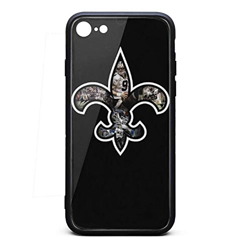 Team Logo Brees Phone Case for iPhone 7/iPhone 8 TPU Gel Full Protective Anti-Scratch Fashionable Glossy Anti Slip Thin Shockproof Case