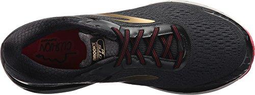 Brooks Men's Adrenaline GTS 18 Black/Gold/Red 12 D US D (M) by Brooks (Image #1)