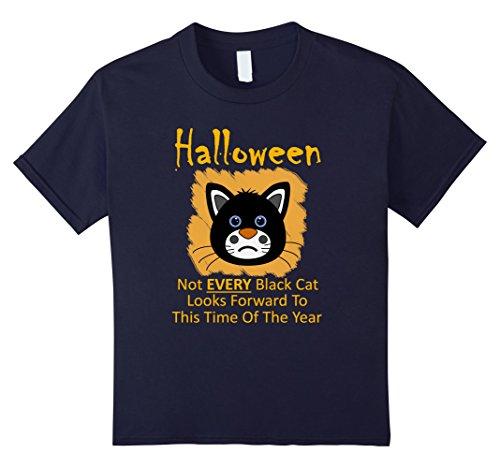 Grumpy Cat Costume Amazon (Kids Halloween Black Cat Cute-Grumpy Halloween Men Women TShirt 1 12 Navy)