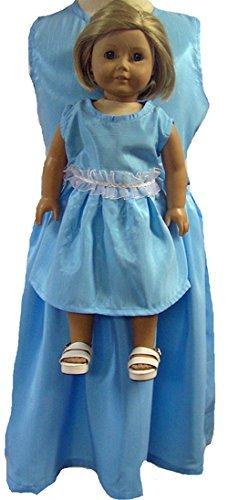 お揃いの女の子と人形の服 ブルードレス B010AJ50GO サイズ5 サイズ5 B010AJ50GO, 大宮パークドラッグストアー:a50d5e12 --- arvoreazul.com.br