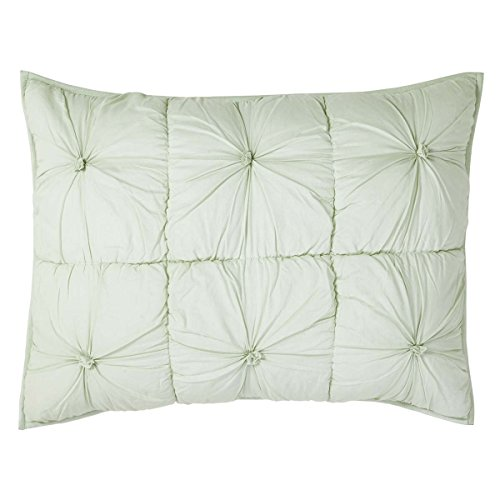 VHC Brands Farmhouse Bedding - Camille Green Sham, Standard, Mint
