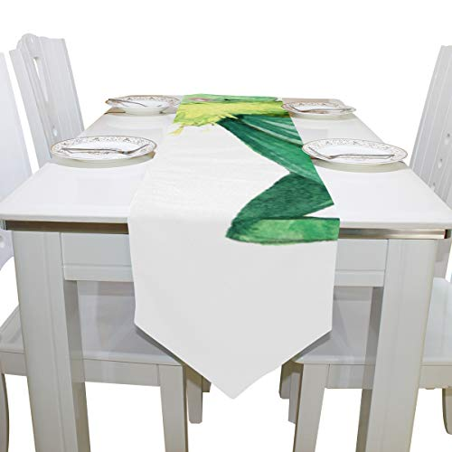 Table Linens Grasshopper Vivid Cartoon Pattern Printed Table Runner Farm Tablecloths for Kitchen Outdoor Restaurant Home Place Mats Bar Coasters 13x90 Inch]()