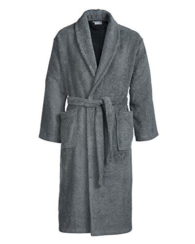 b87088ea797f53 myHomery Frottee Bademantel - Morgen-Mantel mit oder ohne Kapuze - Saunamantel  Unisex - Damenbademantel