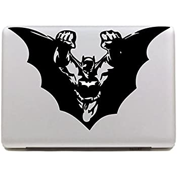 Vati leaves removable creative flight batman decal sticker skin art black for apple macbook pro air mac 13 15 inch unibody 13 15inch laptop