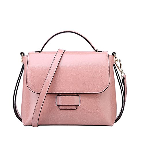 Handbag Dissa Bag Q0865 Fashion Women Casual Shoulder Pink Leather wFTtCRF