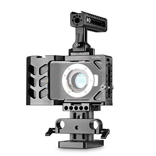 SmallRig Camera Accessory Kit for BMPCC Blackmagic Pocket Cinema Camera with Cheese Top Handle and Riser Support System - 1992 by SmallRig