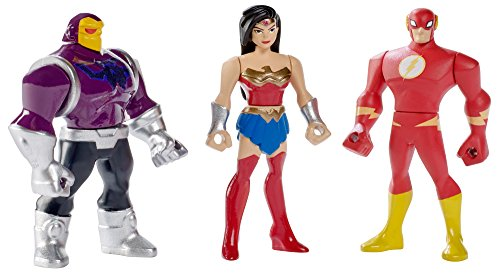 DC Comics Justice League Action Mighty Wonder Woman, The Flash, & Mongul Mini Figures, 3 pack
