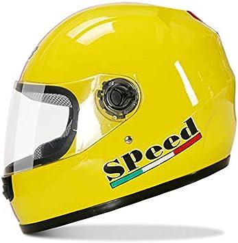 para Carreras de Coche t/érmico Casco Integral para Motocicleta FidgetFidget para Hombre y Mujer para Invierno