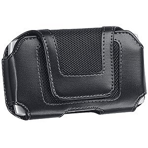 Luxmo Contemporary Belt Clip Carrying Case #X, Black for Casio GzOne C771, Dell Venue Pro, HTC Amaze 4G DROID Incredible 2 DROID Incredible 4G LTE EVO 4G LTE HD7S Inspire 4G Merge One S One V One X Sensation 4G Rezound Titan Titan II Vivid