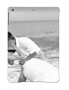 Yellowleaf Rugged Skin Case Cover For Ipad Air- Eco-friendly Packaging(love Mood Emotion Bride Wedding Men Males Women Females Girls Ocea Sea Waves Black White )