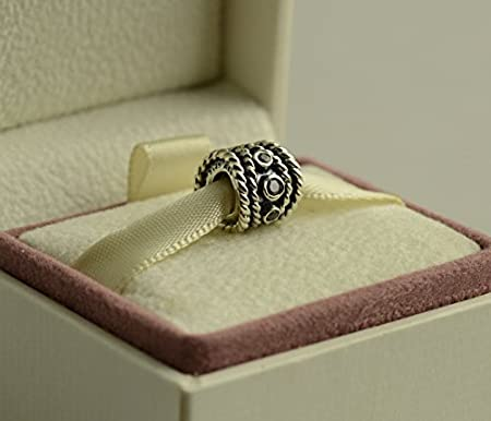 95b69b050 Authentic Pandora Retired and Silver ENTANGLED BEAUTY Diamond Charm Gift  Box for Bead Great Gift for Mom: Amazon.co.uk: Kitchen & Home