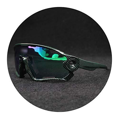 Flower falling 5 Lens Photochromic Color Cycling Glasses Polarized Sports MTB Bicycle Sunglasses Sports Riding Eyewear