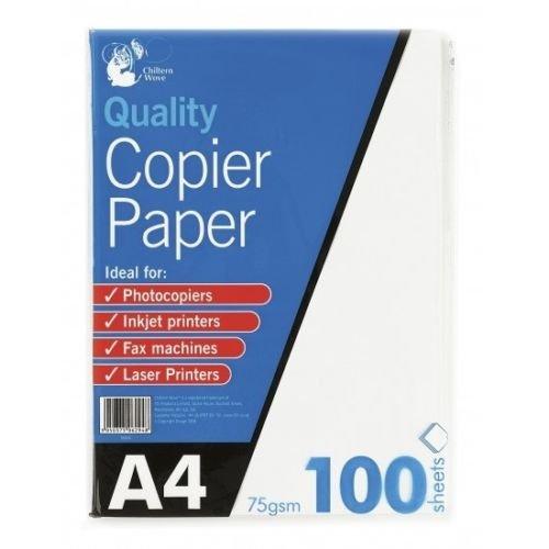 Risma da 100 fogli in A4 colore carta: Bianco brillante 75 gsm 5Starwarehouse per stampante