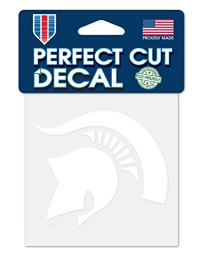WinCraft NCAA Michigan State Spartans 4x4 Perfect Cut White Decal, One Size, Team Color