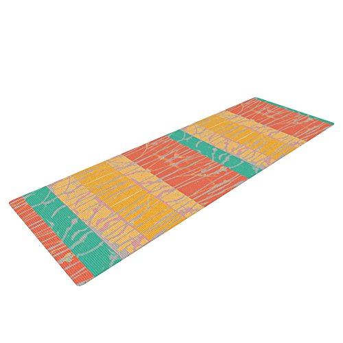 Kess InHouse Nina May Desert Splatter Yoga Exercise Mat, Orange/Gold, 72 x 24-inch by Kess InHouse