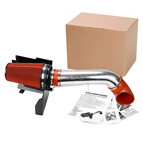 "Superfastracing 4"" Cold Air Intake System + Heat Shield For 99-06 GMC/Chevy V8 4.8L/5.3L/6.0L / Silverado 1500/2500/3500 (Red)"