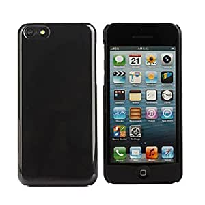Hard Plastic Back Case for iPhone 5C(Assorted Color) --- COLOR:Black