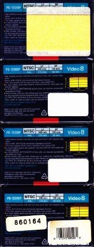 Sony 8mm MP video cassette - 120 min. (4 pack)