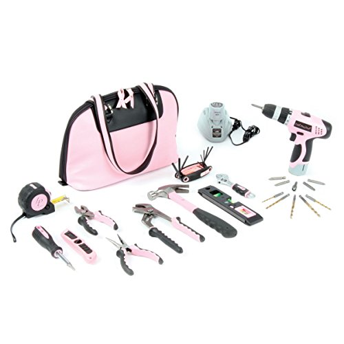 Little Pink Tool Kit and Drill Combo